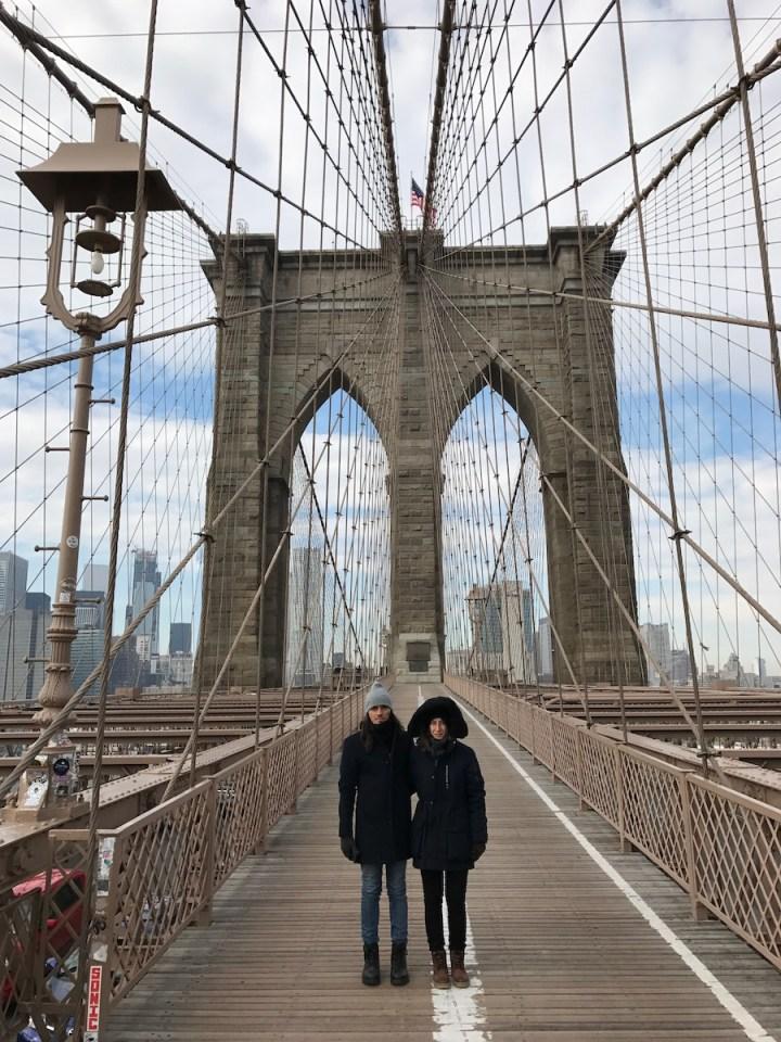 Bruno e Carla - Ponte do Brooklin - New York