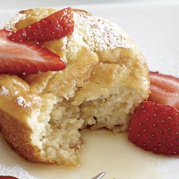 muffin com morango