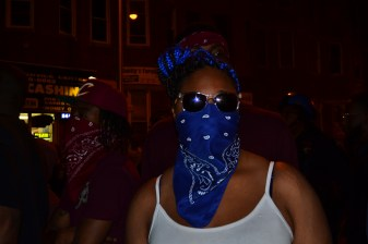 """""""It's not all about violence yo, it's about peace, communication and shit like that,"""" a 15 year-old Crip, who goes by the name of Sin, says. (Aiyah Sibay/Bloc Reporter)"""