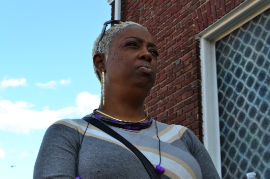 Michele Spence, a member of the Family Life Global Ministries, says she felt obligated apologize to police officers as she walked passed. (Aiyah Sibay/Bloc Reporter)