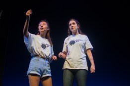 Members of UMD's improv group, Erasable Ink, warm the audience up for the upcoming UCB performance. (Joe Duffy/Bloc Photographer)
