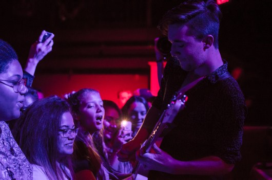 Guitarist, Cameron Olsen, of Weathers as they open for Saint Motel at 9:30 Club. (Cassie Osvatics/Bloc Photographer)