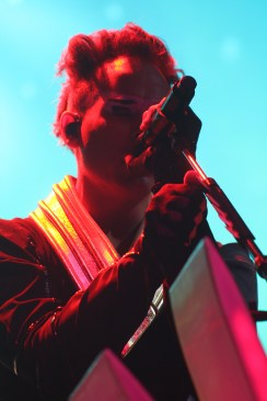 Luke Steele, the frontman for Empire of the Sun, performed on Saturday, October 8, at one of DCs biggest festivals of 2016, the All Things Go Fall Classic. (Julia Lerner/Bloc Photographer)