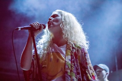 Lead singer of Transviolet, Sarah McTaggart, performs while opening up for LANY at the 9:30 Club on Monday, Oct. 24, 2016. (Casey Tomchek/Freelance Photographer).