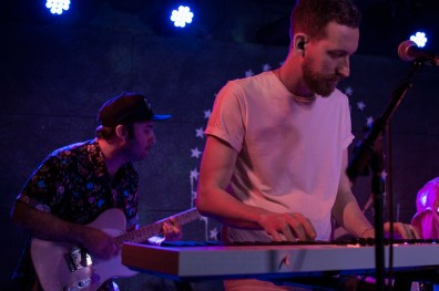 Electric guest's touring bassist (left) and key board player and guitarist (right) perform at U Street Music Hall in D.C. (Cassie Osvatics/Bloc Reporter)