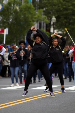 A group from the Duke Ellington school of the arts performed dances and music in the Funk Parade. (Julia Lerner/Writer's Bloc)