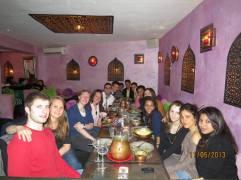 Marockansk middag med trevliga människor