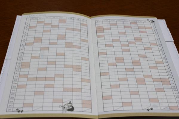 ムーミン手帳 年間スケジュール