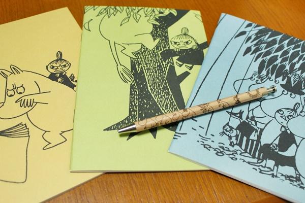 ムーミン 手帳とボールペン
