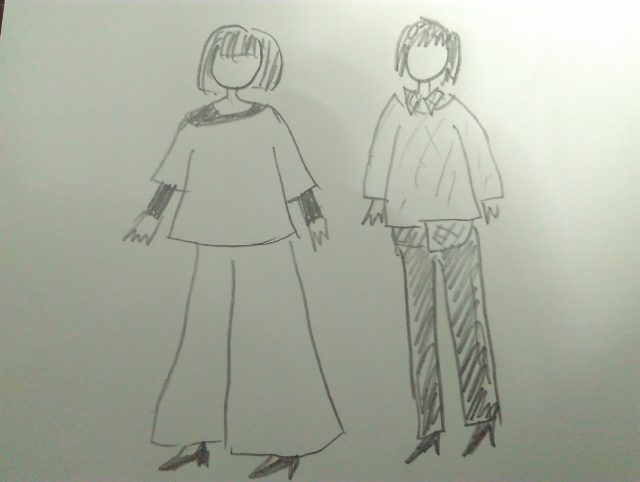 カジュアルな服装