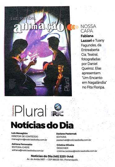 Clipagem Jornal Notícias do dia - Revista Plural