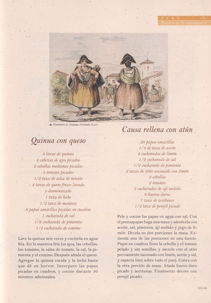 """Page from """"Recetas de la abundancia"""""""