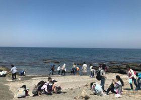 今日の沖ノ島無人島探検は、東京家政大学附属女子中学校のみなさんをご案内