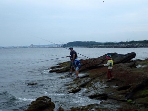 延べ竿釣り