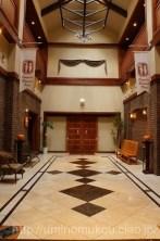 壁のレンガの装飾がモダンで素敵