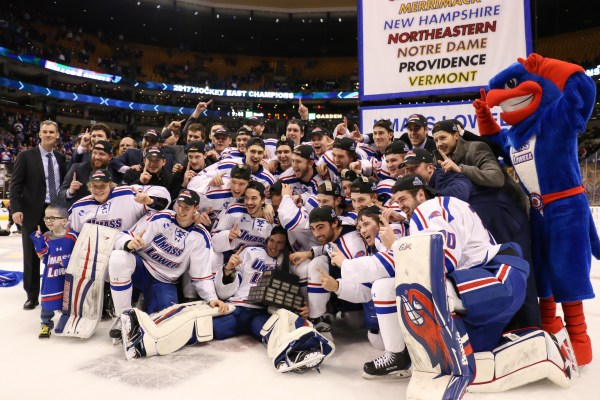 No. 4 River Hawks dismantle Boston College to earn third Hockey East Championship