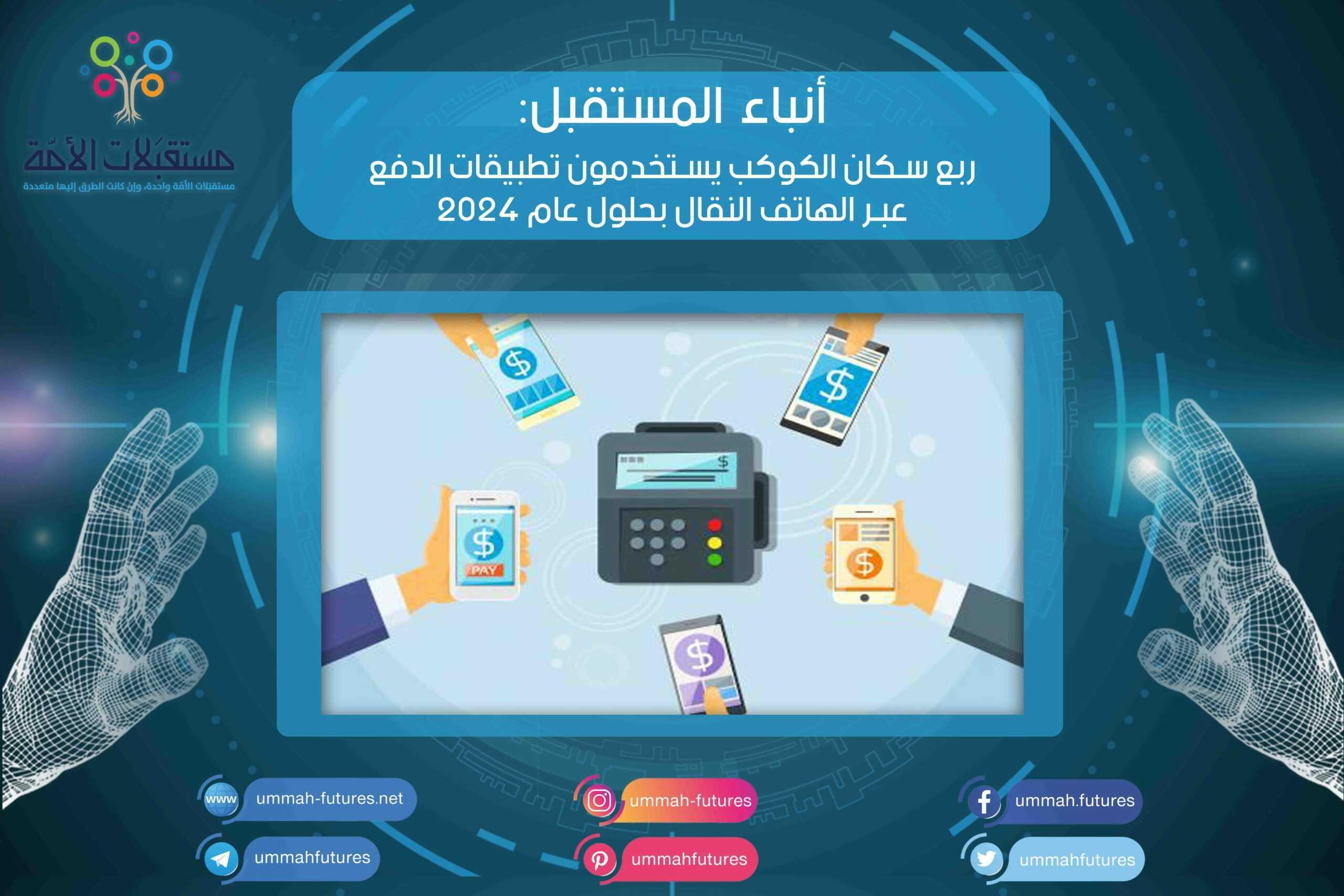 ربع سكان الكوكب يستخدمون تطبيقات الدفع عبر الهاتف النقال بحلول عام 2024