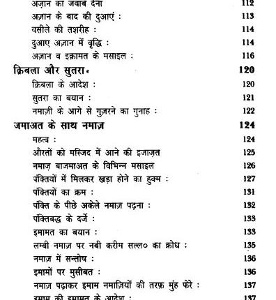 Namaze Nabawi in Hindi Pdf free Download 7