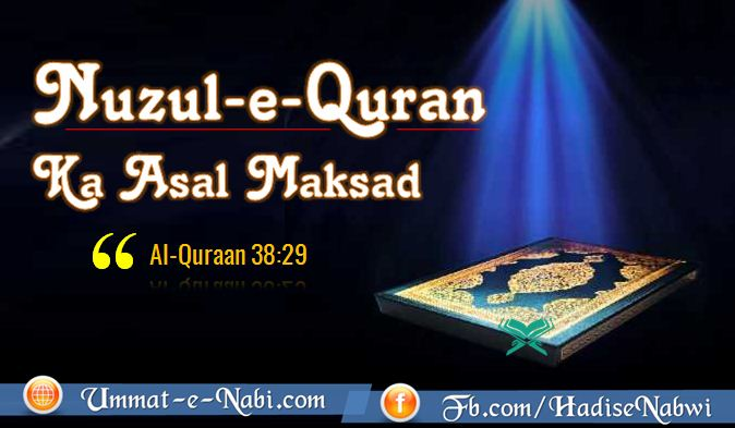 Quran ke Nuzool ka Asal Maqsad