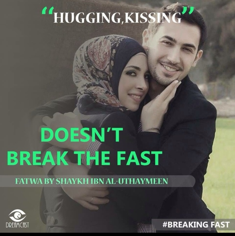 Does Hugging One's Spouse Break the Fast?