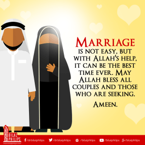 Blessed marriage is both husband and wife should love Allah and his beloved Prophet Muhammad (pbuh) more than they love each other