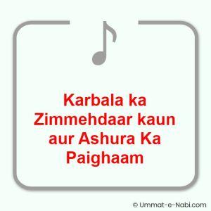 Karbala ka Zimmehdaar kaun aur Ashura Ka Paighaam