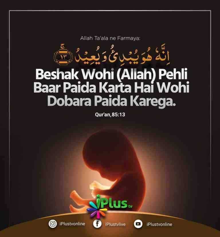 Beshaq Wohi Allah Mout ke Baad Hume dubara Paida karega