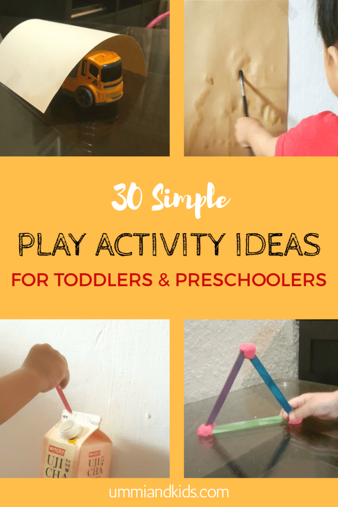 30 simple play activity ideas for toddlers and preschoolers