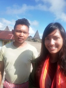 Me with the guide at Todo Village