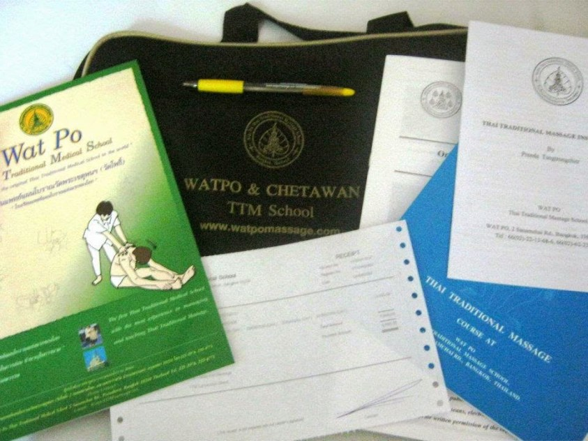 A briefcase and coursebooks