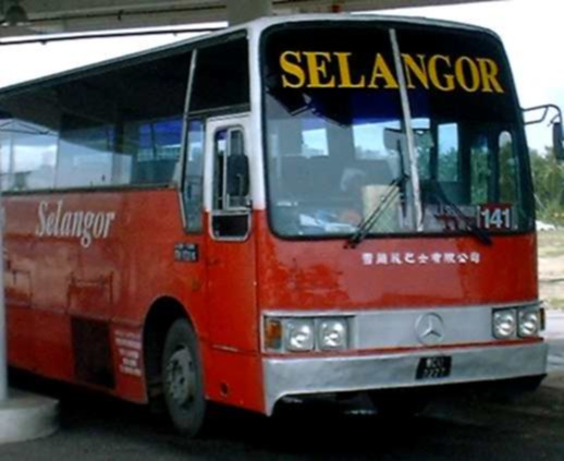 The red Selangor bus 141