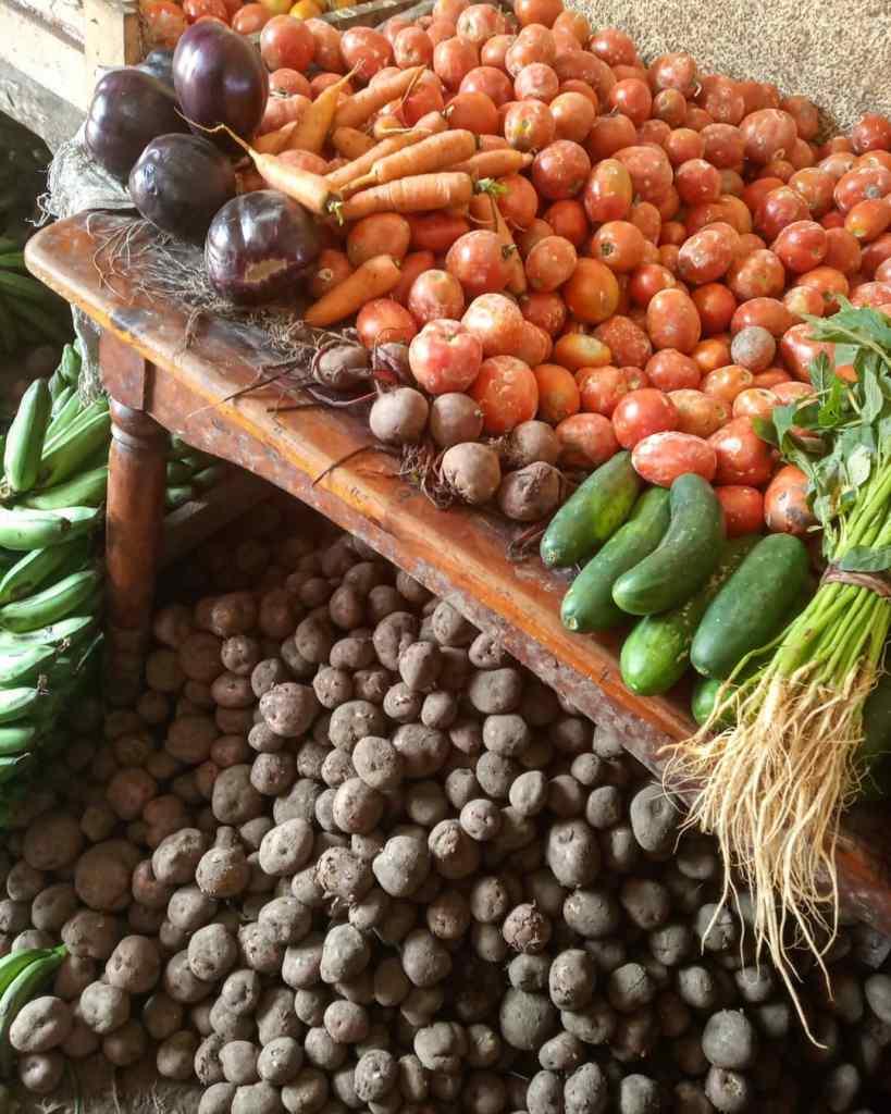 vegetables at Nyamirambo market