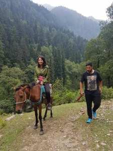 On a horse in Naranag