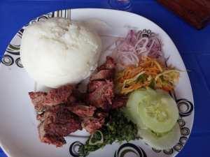 Nyama choma and ugali