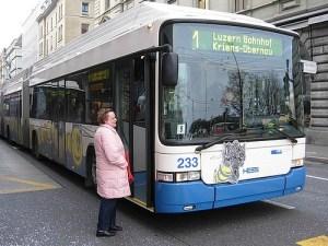 Bus from Lucerne to Kriens Pilatus