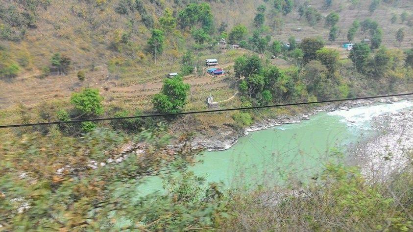 Bus view from Kathmandu to Pokhara