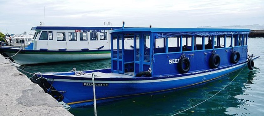 Local ferries in the Maldives