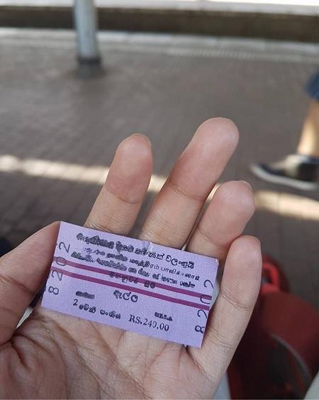 Kandy - Ella Train Ticket