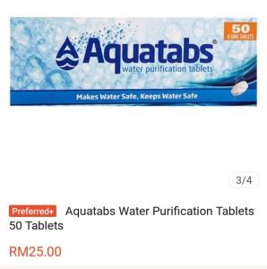 Shopee Aquatabs water purifier