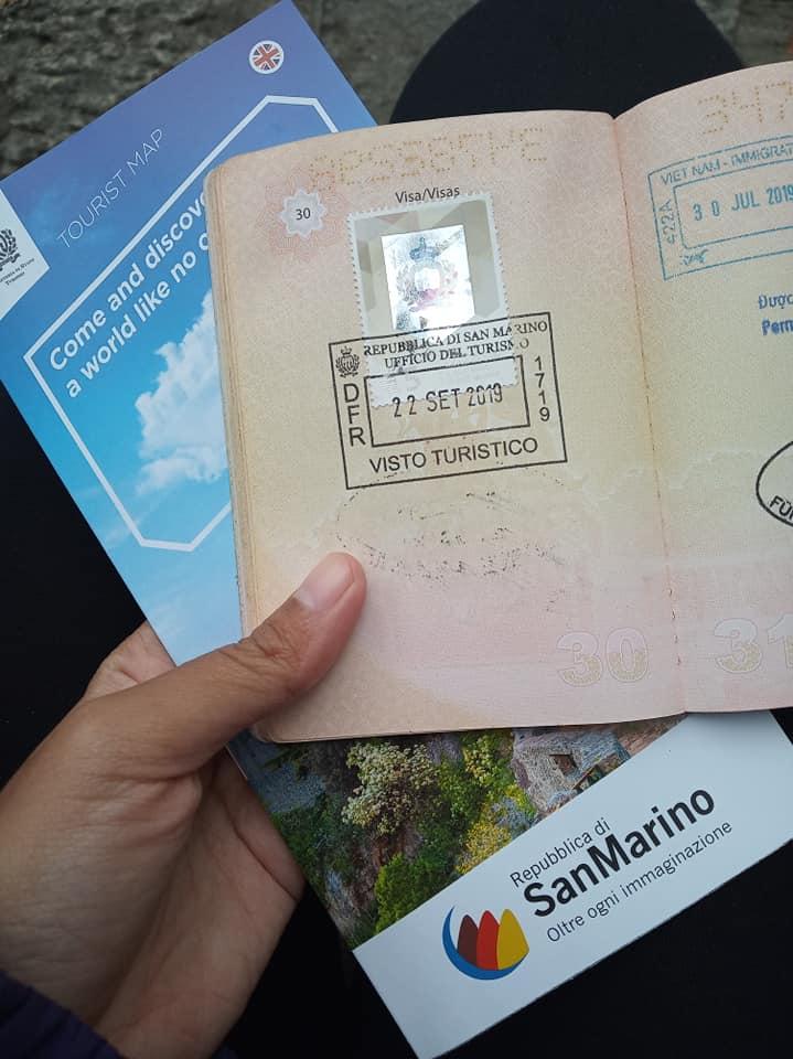 Passport stamp San Marino | Ummi Goes Where?