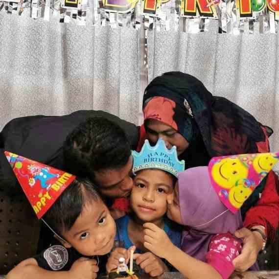 Birthday Angah ke-7 tahun pada 2020 ; buat Angah tersenyum gembira