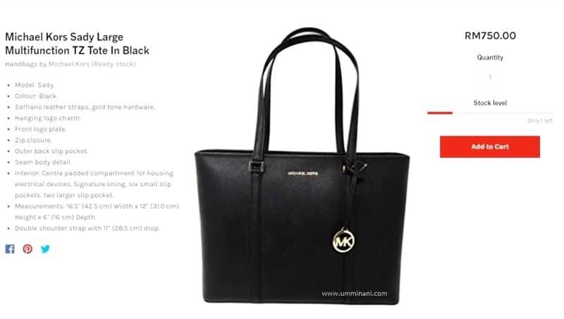 kedai beg berjenama online -