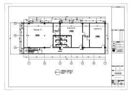 Denah Rencana pembangunan Asrama lt.2