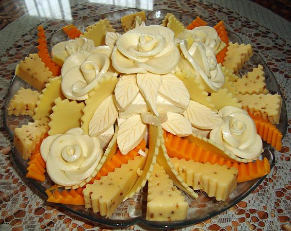Rose dalla foto del formaggio