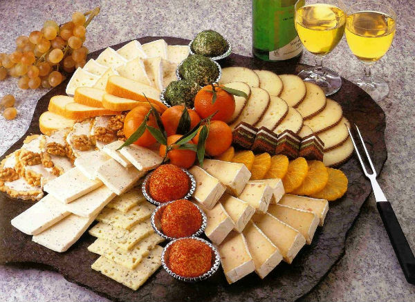Cheese of different varieties photo