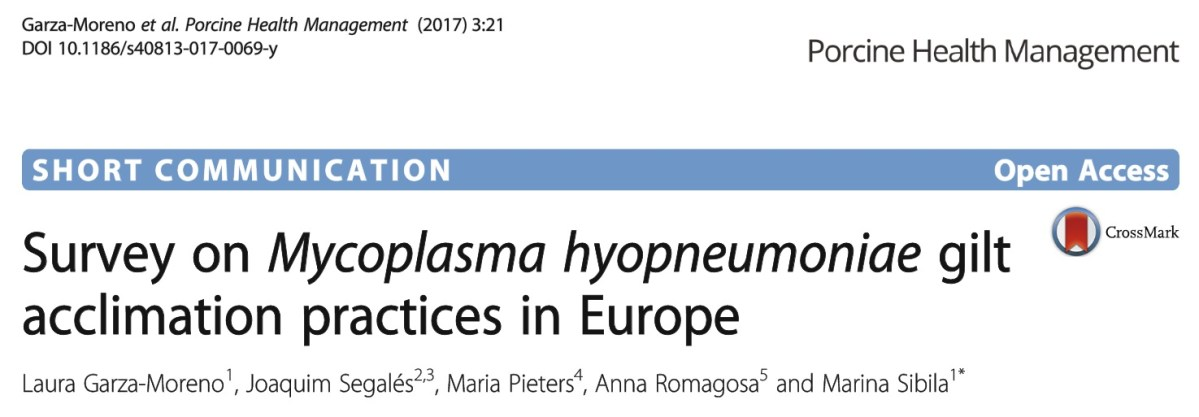 What are the acclimation practices for Mycoplasma hyopneumoniae accross the EU?