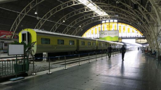 Hua Lampong train indoors as a top filming location in Bangkok for video production