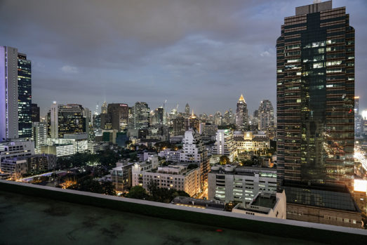 Bangkok Skyline at night as a top filming location in thailand