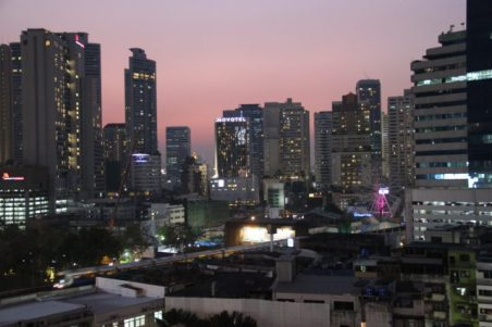 Phrom Phong area at night a location in Thailand for video production