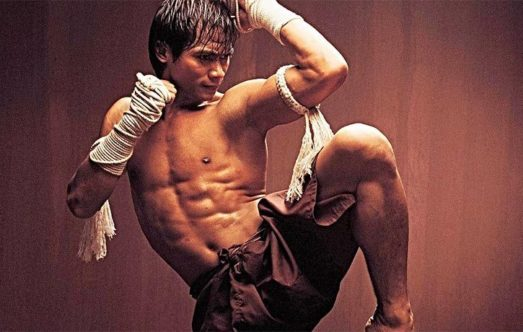 Tony Jaa in muay thai fight position